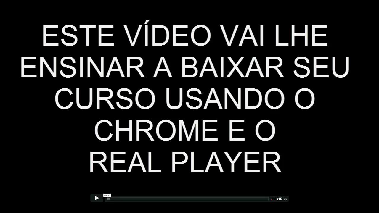 Como Baixar Seu Curso Em Video E Videos Do Vimeo Com Real Player