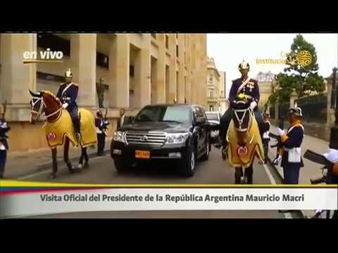 Visita de estado del presidente Mauricio Macri a Bogotá, Colombia.