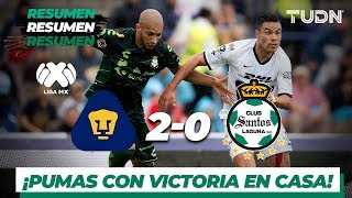 Resumen y Goles | Pumas 2 – 0 Santos | Liga MX – AP 2019 – J 12 | TUDN