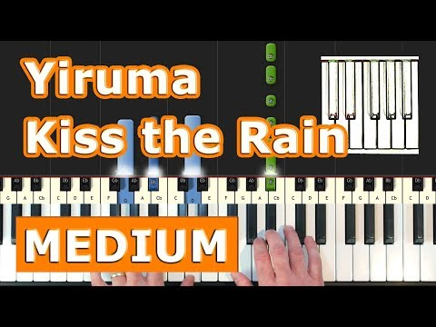Yiruma - Kiss the Rain - Piano Tutorial Easy - How To Play (Synthesia)