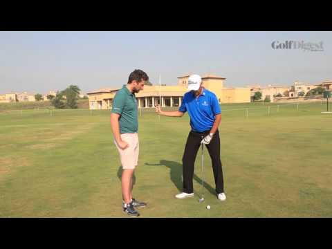Feel drill for good hip action on the downswing