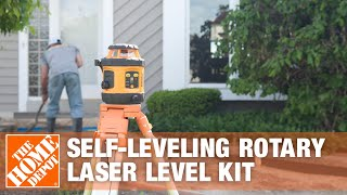 Johnson Self-Leveling Rotary Laser Level Kit 40-6517: A Fine Precision Tool - The Home Depot
