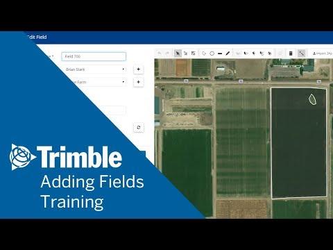 Trimble Managing Fields - Trimble
