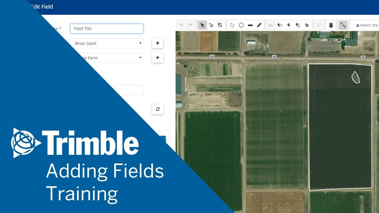 TrimbleDraw boundaries with Field Manager (GIS) online - Trimble