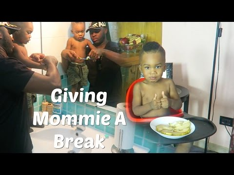 VLOGMAS DAY 6: FATHER-SON WEEKEND MORNING ROUTINE!