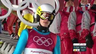 JO 2018 : Jonathan Learoyd 27e de la finale de saut à ski petit tremplin