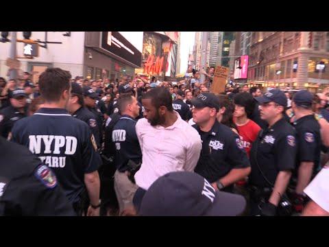 #BlackLivesMatter Arrests Times Square Protests  #AltonSterling #PhilandoCastile 7/7/16