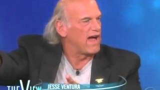 Jesse Ventura on stage. illuminati exposed