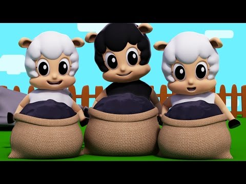 baa baa black sheep | nursery rhymes | kids songs | 3d rhymes | childrens songs by Farmees