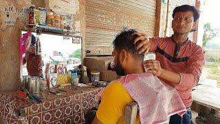 Asmr Street head massage with six cream Face massage(Travel series 2)