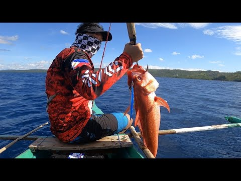 I Caught This Beautiful Ruby Snapper | Expensive Fish | Fishing N The Philippines | Vertical Jigging