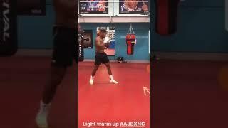 Anthony Joshua MCGREGOR Warm Up Light Shadow Boxing!! Pulev Next!!