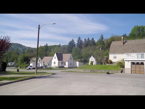 Warfield BC Canada. Village In West Kootenay Region. Southern British Columbia.