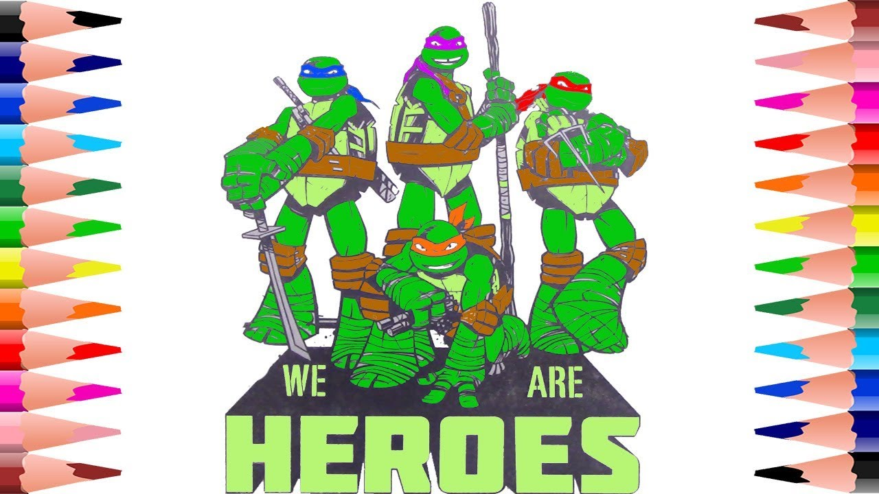 Coloring Teenage Mutant Ninja Turtles Coloring Pages for Kids ...