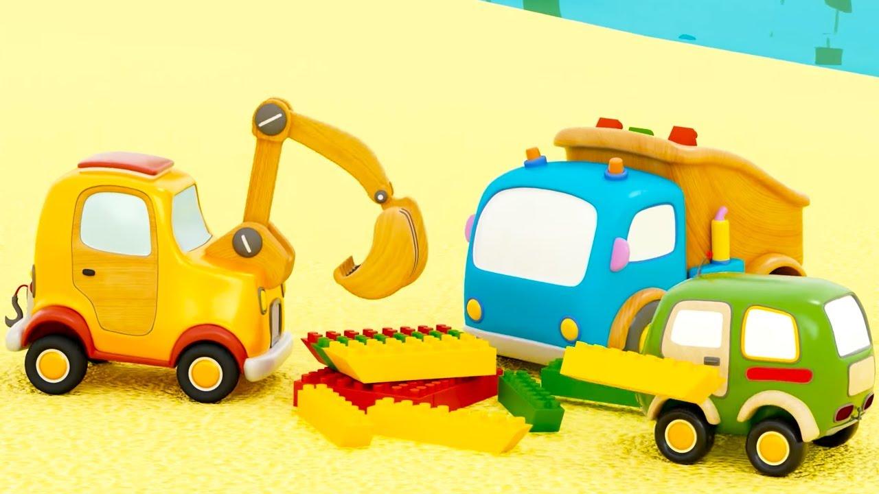 Машинки Мокас 🚕 Мяч в пруду 🚙 Развивающие мультики для детей и малышей 🚗