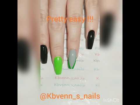 Scary 😱 face on a glowing green nail polish  - Halloween Design- Tutorial thumbnail