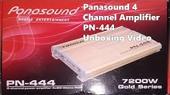 Panasound PN-444 4 Channel Amplifier Unboxing Review In Hindi