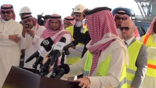 الوليد بن طلال يتابع الانتهاء من أساسات اكبر برج في العالم - قناة الصورة الدولية