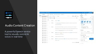 Audio Content Creation - How to convert Text to Speech using Microsoft Azure AI voices