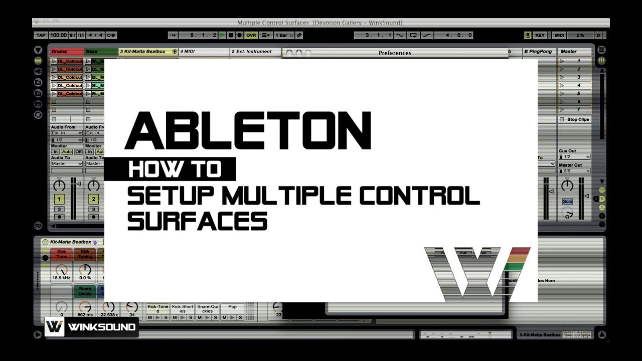Ableton Live: How To Connect Multiple Control Surfaces | WinkSound