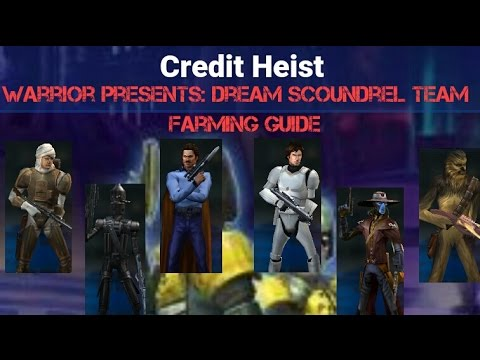 Star Wars Galaxy of Heroes Dream Scoundrel Team Who to farm and who not to?!?