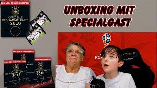 REWE DFB WM 2018 SAMMELKARTEN - Karten Unboxing mit meiner Oma