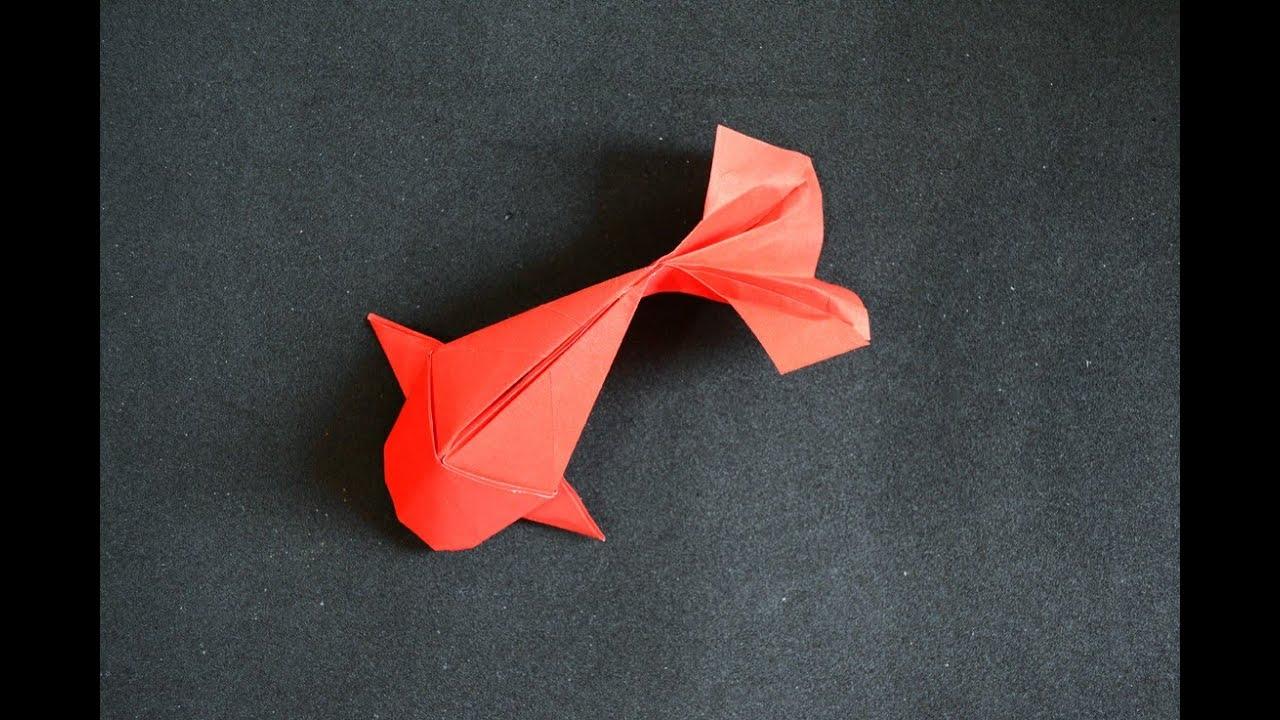 origami fish koi riccardo foschi  [ 1280 x 720 Pixel ]