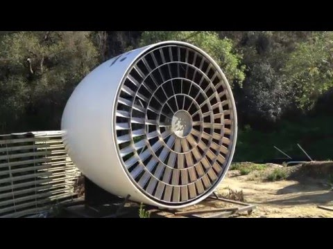 The world's first Wind Turbine from a Jet engine. Renewable at its best