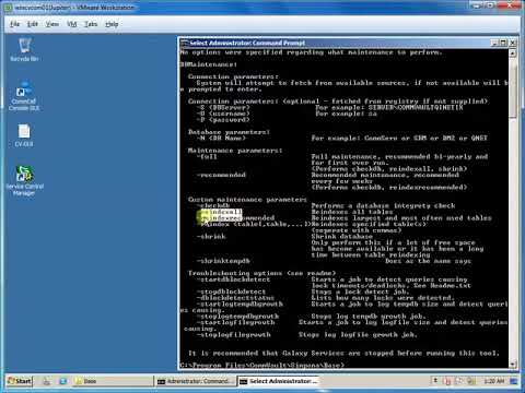 CommVault Database Maintenance (DBMaintenance)