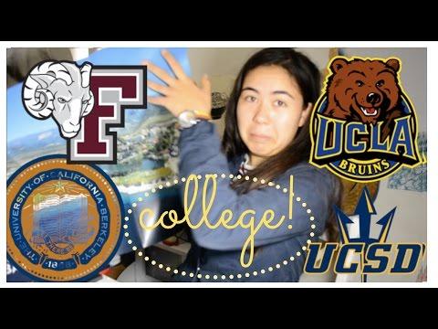 OPENING 2017 COLLEGE DECISIONS! EEEK! UCLA, USC, UC Berkeley, UC Santa Barbara, UC San Diego!