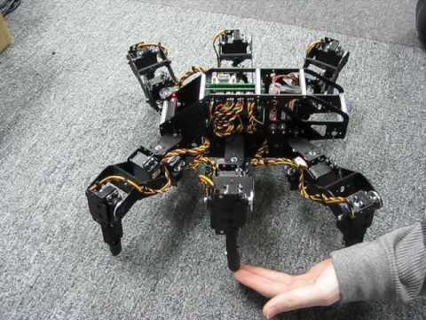 Lynxmotion T-Hex Hexapod Robot Terrain Adaptive Prototype by RobotShop com