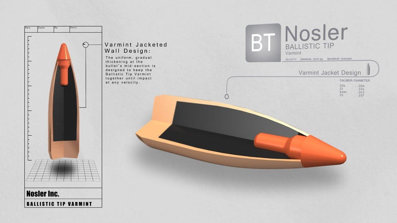 Ballistic Tip Varmint Bullet | Nosler - Bullets, Brass, Ammunition