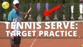 Tennis Serve Lesson: Target Practice