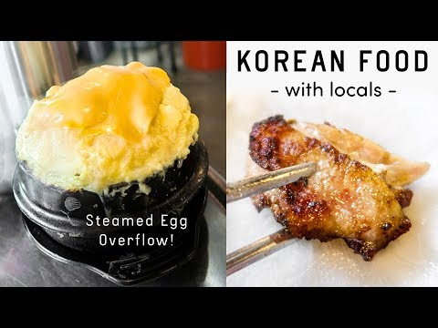 CHEESY STEAMED EGG & GRILLED CHICKEN ◆ Korean Food Tour with Locals