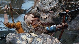 God of War 4 2018 Ogre Boss Fight  No Damage Walkthrough Part 16 PS4 PRO
