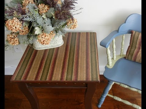 DIY -- Table Fabric Decoupage Project -- Upcycling Furniture