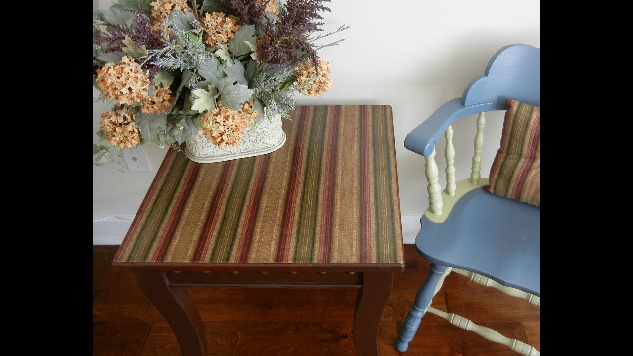 Diy Table Fabric Decoupage Project Upcycling Furniture