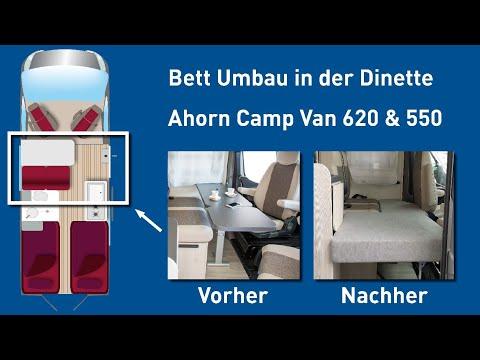 Ahorn Camp Van Bettbau in der Dinette