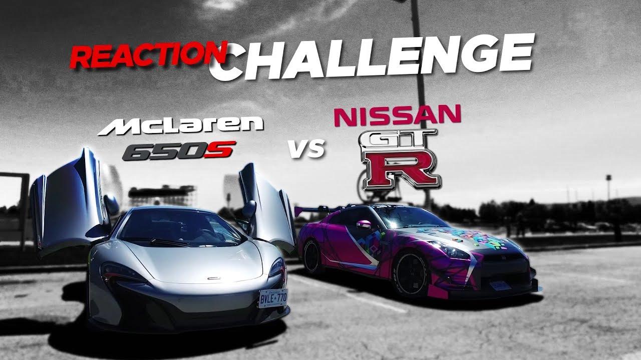 Exotic Supercar Reaction Challenge Contest Mclaren 650s Vs Nissan