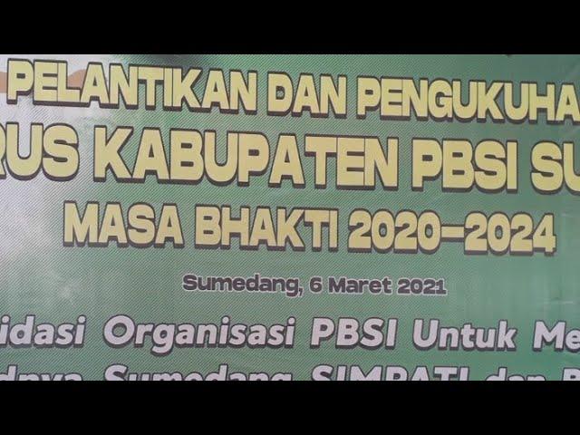 Pelantikan Pengurus PBSI Sumedang 2020-2024