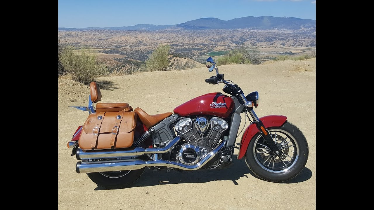 2016 Indian Scout: How to add Saddle Bags, Rear Seat - YouTube