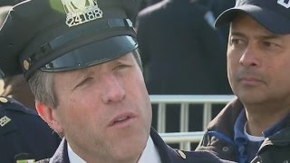 NYPD union chief asked why officers turned backs at funeral