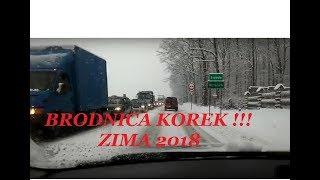 Brodnica,  pierwszy śnieg 2018. Korek do Niewierza!