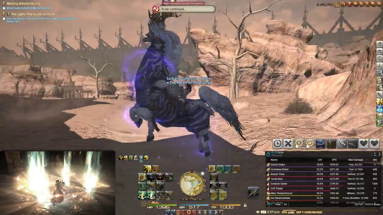 FFXIV - Ixion Fate Mount (A Horse Outside)