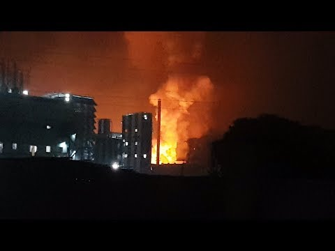 Big Fire & Huge Blast In Chemical Company in MIDC Tarapur on 8th/9th March 2018