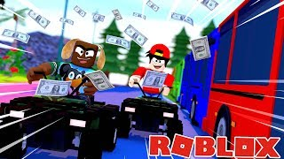 RoPo THE ULTIMATE TRAIN ROBBER USING ATV's - Roblox gaming adventures
