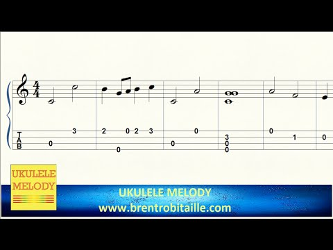 Ukulele Tab - Somewhere Over the Rainbow - Notes - YouTube
