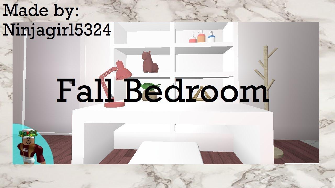 Welcome To Bloxburg: Fall Bedroom Speed Build