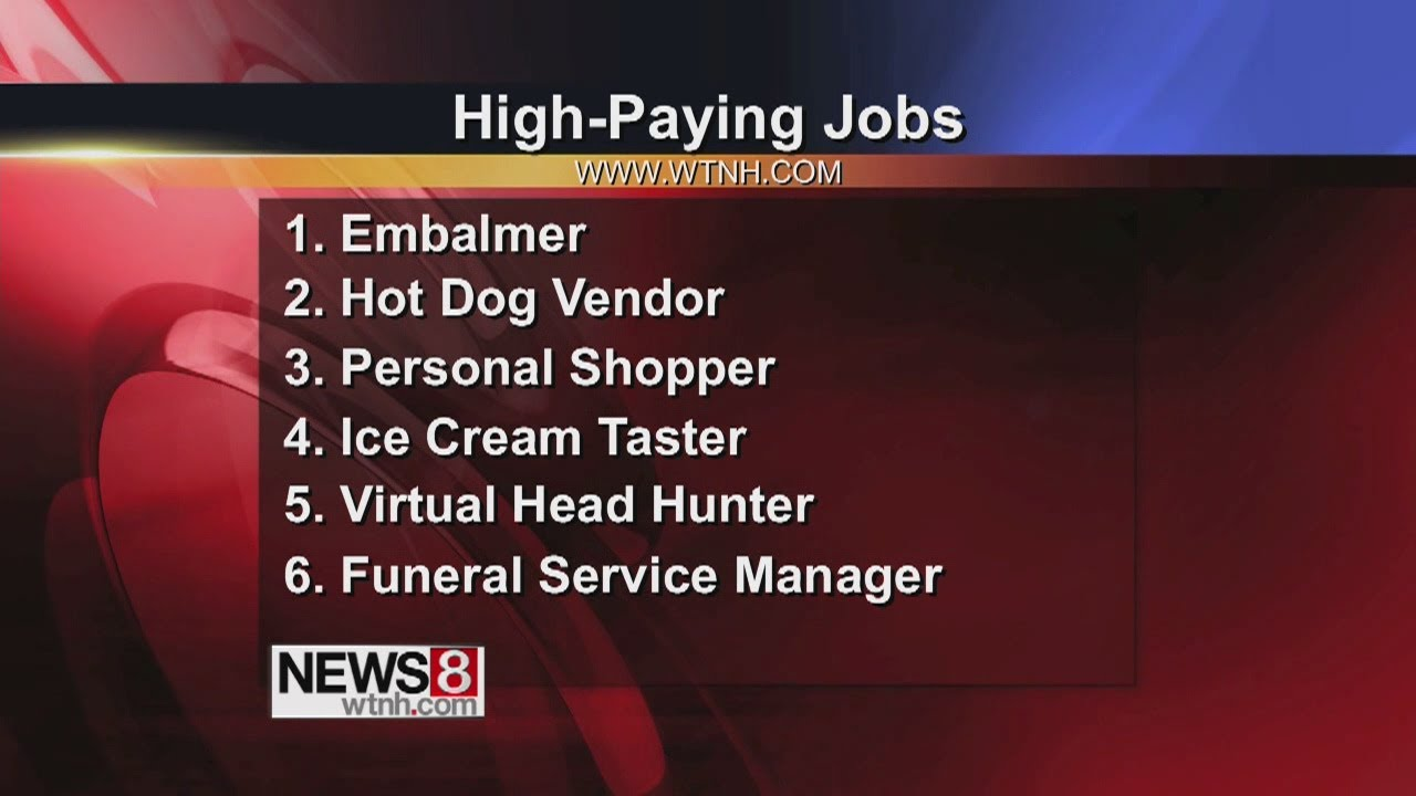 unusual jobs that pay well unusual jobs that pay well