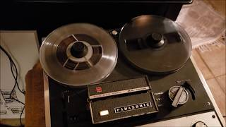 Panasonic RS-755S Reel to Reel Tape Recorder - Bouncing to Tape and Back